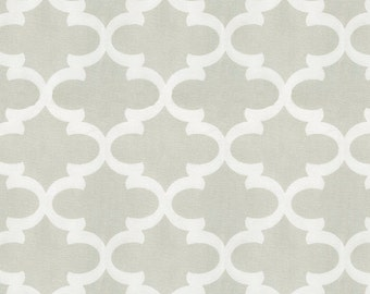 French Gray Quatrefoil Fabric - By The Yard - Girl / Boy / Gender Neutral