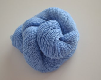 Wool Cashmere Blend Reclaimed Yarn - Medium Blue