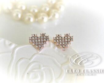 Heat Earrings | Girls Studs | Heart Jewelry | Love Earrings | Love Jewelry | Sister Gift | Best Friend
