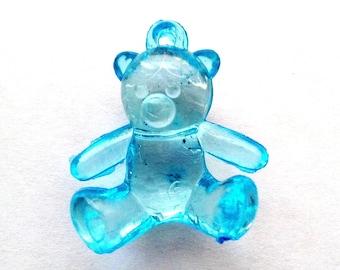 Blue bear transparent to hang