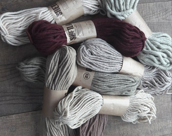 Thick brown wool