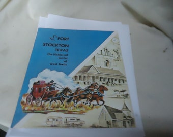 Vintage Fort Stockton Texas Brochure, The Historical Center Of West Texas, collectable