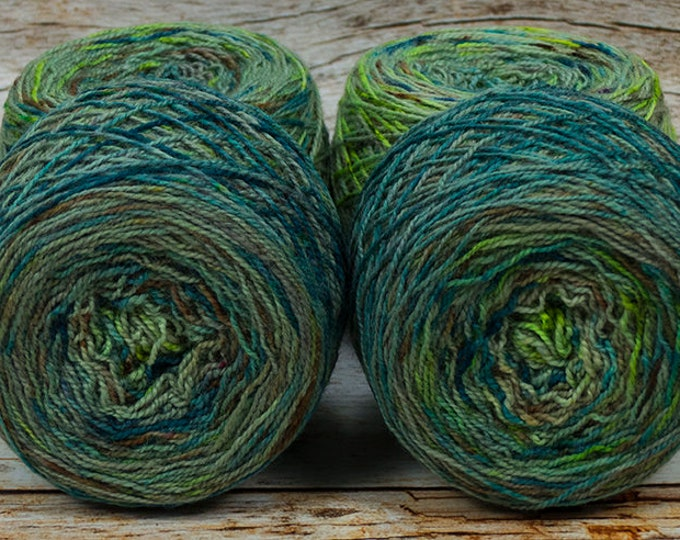 "Full "" Urban Decay "" - Llark Handpainted Gradient Speckle Fingering Weight Yarn"