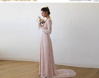 Wrapped Waist Wedding Dress