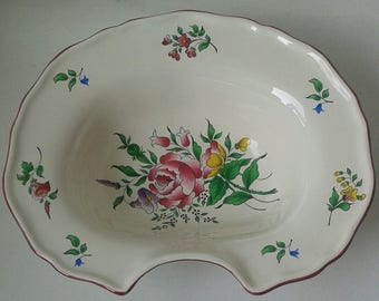 19th Century Barber Bowl from LUNEVILLE ST CLEMENT -  Father's Day gift
