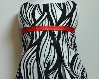 """Summer Skirt & Top Red White Black 18"""" Doll Fits AG Dolls"""