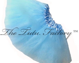 LIGHT BLUE  TUTU . Little Girls to Adults Plus SIzes . Ballet Tutu Skirt . Short 11in Length by The Tutu Factory ™