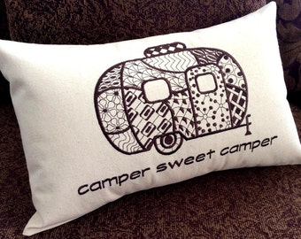 Camper Pillow Cover, RV, Motor Home, This is How We Roll, Camper Sweet Camper, Unique, One of a Kind, Snow Birds, Motorhome, Travel Trailer
