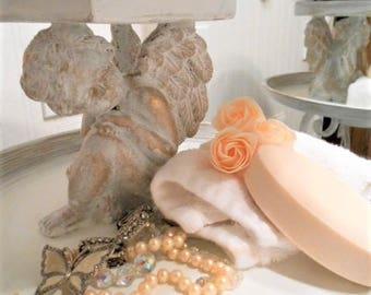 Cherub Decorative 2 Tier Display Stand, Shabby Chic, Cottage Chic, Bathroom, Bird Feeder, Serving Tray, Wedding