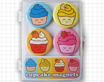 Happy Cupcakes Magnet Set