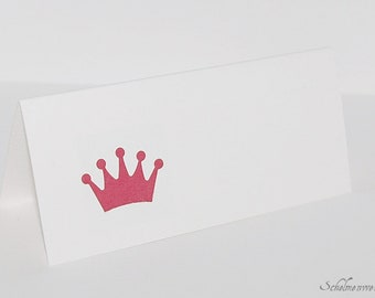 Table card with stamped crown (6 pcs)