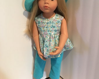 Handmade 2-piece pants outfit for 18 inch dolls such as American Girl