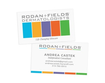 Rodan and Fields Business Card, Personalized Business Card, Rodan and Fields Printable File, Rodan and Fields Independent Consultant Card