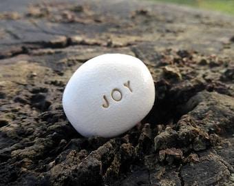 JOY - Ceramic message Pebble