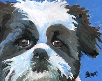 Shih Tzu Art Print of Original Acrylic Painting - 8x10 Dog Art