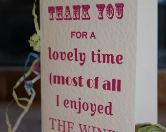 Unique and unusual thank you card vintage style