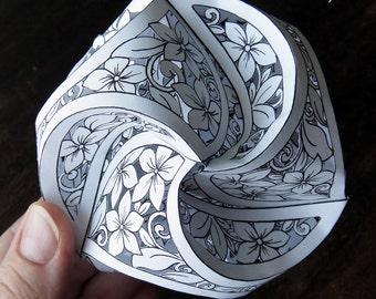 Triskele Paper Globe PAPERCUT - FLORAL pattern - Personal License