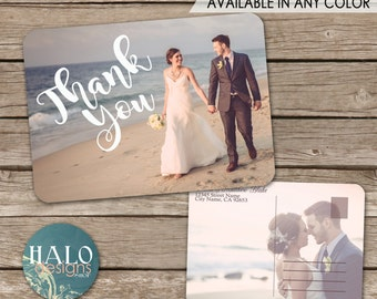 Classic Wedding Thank You Postcard - printable card