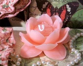 Beeswax Pink Lotus Flower Candle Water Lily