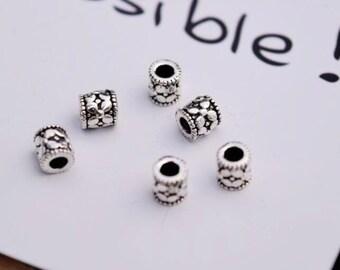 10 pcs sterling silver flower tube spacer beads bead spacers 5mm LJX13