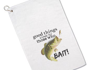 Custom Fishing Towels - Fishing Towel - Funny Saying- Personalized - Bass Fishing - Fisherman - Personalized Gift - For Men