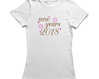 New Years 2018 Pattern Spheres Graphic Women's T-shirt