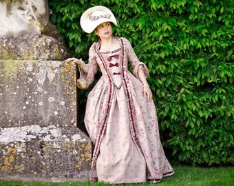 Dress in the French 18th century style Marie-Antoinette (made to order)