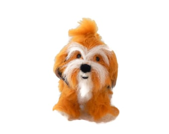 Custom Dog Sculpture,Needle Felted Dog - Havanese or any breed of Cat, Dog or Horse of Your Choice Made To Order