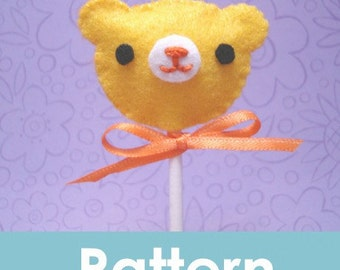 Amigurumi Kingdom Felt Lollipop Bear plushie pattern