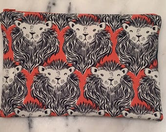 Hear me Roar Ethical Cotton and Steel august print Clutch