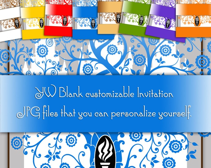 PRINTABLE - DIY Customize, personalize yourself Invitation blanks Young Women temple art