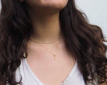 Dainty Dragonfly Necklace, Gold Dragonfly Necklace, Sterling Silver Dragonfly Necklace, Rose Gold Dragonfly Necklace