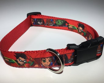 "Teen Titans 1"" Large Dog Collar"