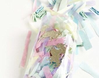 Unicorn confetti - Pastel unicorn confetti mix - Tissue paper confetti - Photo confetti - Unicorn party -  Pastel rainbow party