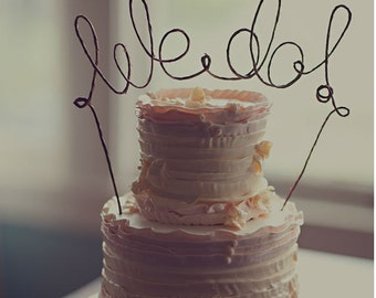 Rustic WE DO Wedding Cake Topper, Rustic Wedding Cake Topper, Rustic Cake Decoration, Rustic Centerpiece, Bridal Shower, Engagement Party