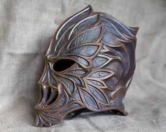 Elven helmet, LARP, Head armor, Elven warrior, Fantasy, LOTR