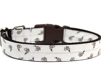 "Bee Dog Collar 1"" Spring Dog Collar"