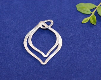5pcs. Silver Plated, E-Coated, Brushed Finish, Earring Components, Marquise Size 46X32mm and 36X27mm, Rings Size 12mm (#S 56)