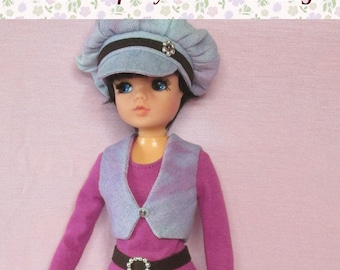 """OOAK outfit for Pedigree Sindy.  """"Retro denim"""" set. Fits basic body and Active (ballerina) body."""