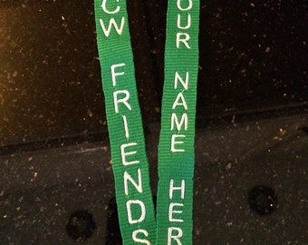 Colonial Williamsburg Friends Facebook Group Custom Lanyard