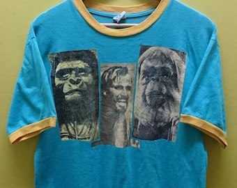 Vintage Planet Of The Apes Ringer T Shirt Rare