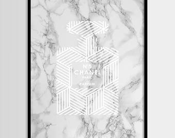 Coco Chanel drucken, moderne print, Mode Kunst, Chanel, Mode-Druck, digitale Kunst, bedruckbare Kunst, digitale Instant Download 8 x 10, 11 x 14