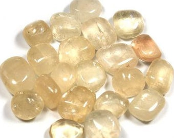 High quality tumbled Honey Calcite.  All pieces hand picked!