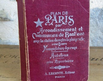 Paris guide book dated 1960