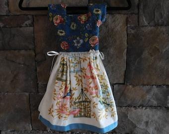 Flowers and Birds Oven Door Towel Dress