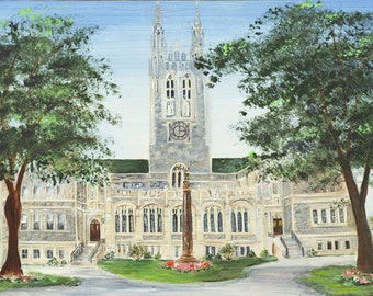 Boston College Gasson Hall Print