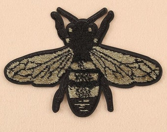 Wholesale Lot  20pcs  Large bumble bee   embroidered  iron on patch 20x15.4cm  8x6inch