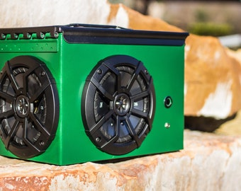 The BOOMBOX XL - A Portable Ammo Can Speaker