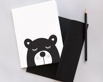 Monochrome Dog Greeting Card