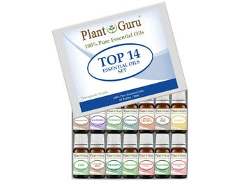 Top 14 Essential Oil Set Kit Variety 100% Pure Therapeutic Grade 10 ml.